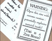 ZINE BOMB - a double-sided mini zine for guerilla craftivists