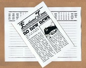 NO NEW NEWS - an Enchanted Times Notebook, Zine, Any-Year Diary