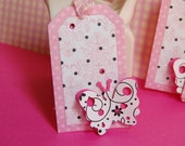 Pink Butterfly Tags