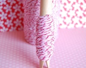 10 Yards Peppermint Divine Twine on a Clothespin -- Ready to Ship