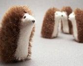 Tiny Plush Hedgehog - Mohair Hedgehog Stuffed with Wool