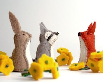 Little Felt Animals - Set of 3 - You choose