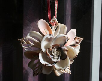 Seashell Floral Window Ornament