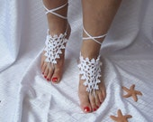Barefoot sandals or Fingerless gloves-hand and foot jewelry eco friendly designer spring fashion sale wedding flower easter mothersday gifts
