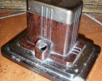vintage inkwell ... ArtDeco FOUNT O INK bakelite and metal with ink bottle and lid art deco ink well