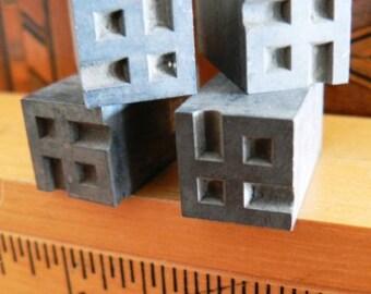 vintage letterpress ... PRINTERS TYPEFACE decorative DECO Corners Grp D 4 pce