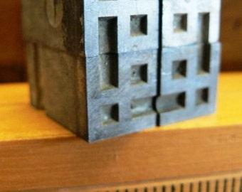 vintage letterpress ... PRINTERS TYPEFACE decorative DECO Corners Grp A 23 4 pce