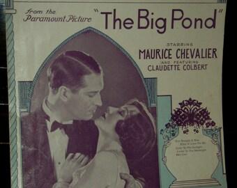 vintage sheet music ... THE BIG POND ... CHEVALIER ...
