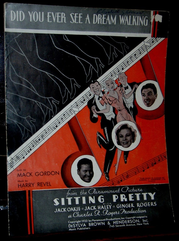 vintage sheet music ...DREAM WALKING from SITTING PRETTY ...