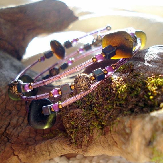 Deep sea olive bracelet