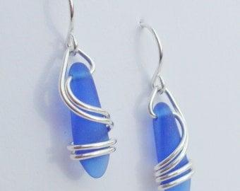 DEEP BLUE  Right Coast Earrings