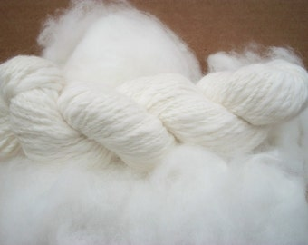 Pure white 100% French angora rabbit fiber .Gorgeous fiber, top quality. French bunny.