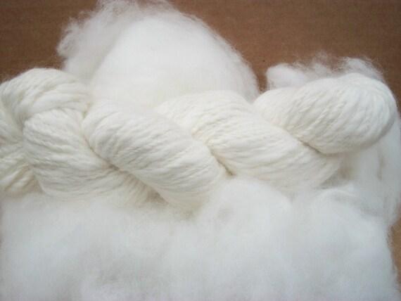 Pure white 100% French angora rabbit fiber .Gorgeous fiber, top quality. French bunny.