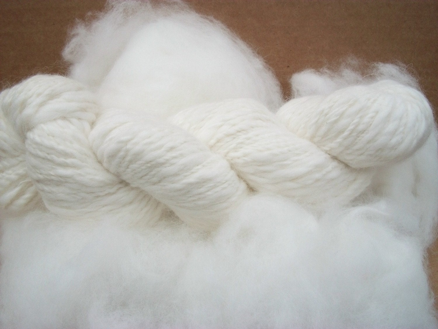 Pure white 100% French angora rabbit fiber .Gorgeous fiber by Lusy