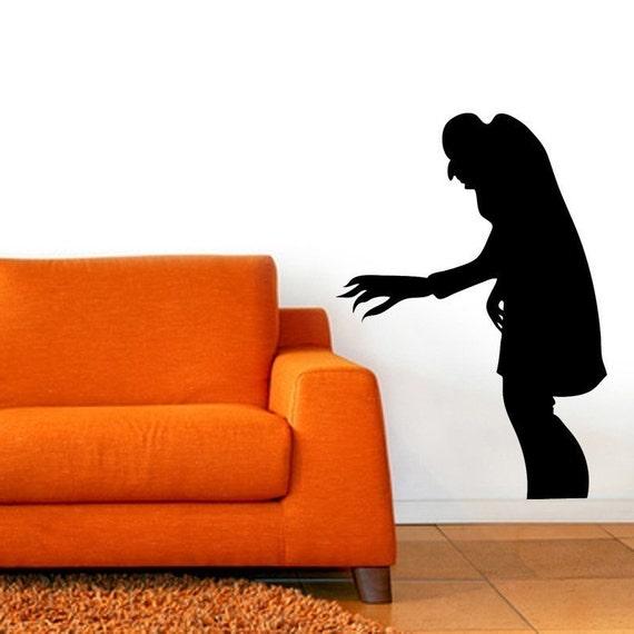 Nosferatu Shadow Vinyl Wall Art Graphic Horror Vampire-CHOOSE ANY COLOR