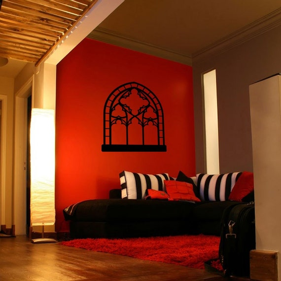 Gothic Window Vinyl Art - Your Choice of Color