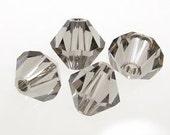 75 Black Diamond 5301 5328 Swarovski crystal bicones 4mm