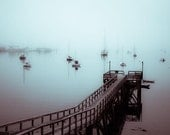 Seawall in fog, Acadia National Park, ME - 10 X 7 fine-art print