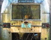 16 X 18 - Abandoned Airstream, Oregon - large fine-art photographic print of a classic vintage airstream left to the elements