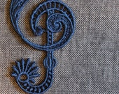 Treble Clef Lace Bookmark
