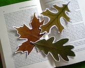 Real Leaf Bookmark - Set of 4 - Fall colors - Book, Nature Lovers Gift