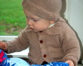 Child's Cardigan and Hat