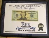 "Class of 2012: ""Break the Glass"" Custom Graduation Gift Printable"