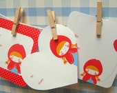 Little Red in love stationery set