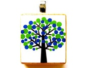 Mod Tree Pendant in Blue and Green