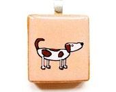 Scrabble-Tile Pendant -- Dog