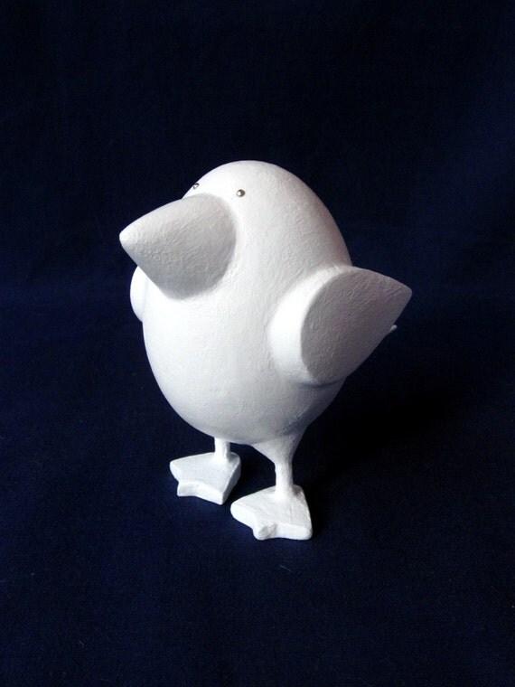 Solid White Mini Bird