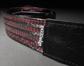 Carbon Fiber Guitar Strap - Black and Red - Last One