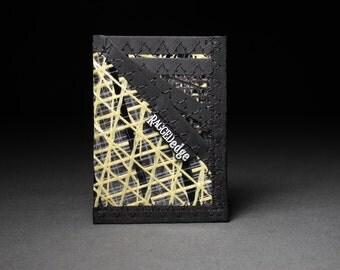 Minimalist Wallet - Kevlar Gold & Carbon Fiber Black - Card Wallet - Card Sleeve