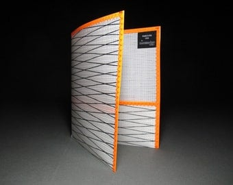 Simply RADiCAL School Folder - White Xply and Neon Orange