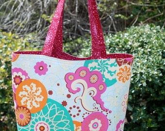 Sheree's Atelier Sugar Sweet Blossoms Cotton Shopping Diaper Shoulder Tote Bag