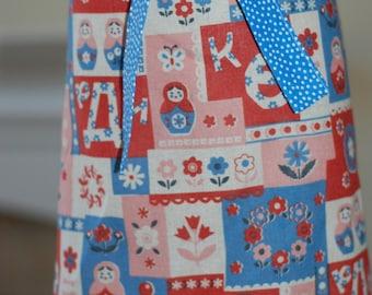 Boutique Handmade Matryoshka Nesting Dolls Apron...Girl's Size 4-8