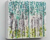 Spring Time FOREST - Original Encaustic Painting