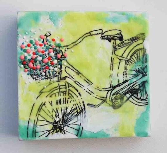 Flowers for YOU - Original Encaustic Painting