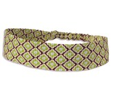 """Fabric Headband - Snow Flower- Pick your size - fit toddlers to adults - 1-1/2"""" wide"""