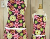 Carnival Bloom Mommy and Me Apron Set - reversible aprons -Pick the child's size paired with Adult apron