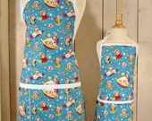 Rocket Rascals Mommy and Me Apron - Toddler size - Reversible