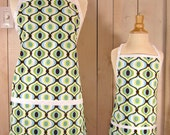 Feeling Groovy Mommy and Me (kid size) Apron Set - reversible