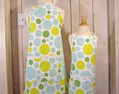 Dream Dot Mommy and Me (kid size) Apron Set - reversible