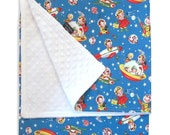 Baby Blanket, Rocket Rascals Receiving Blanket - Minkee Blanket, Minky Blanket