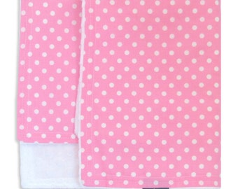 Candy Dot Cuddle Blanket with Minkee (Minky) - lovey blanket - can also be doll blanket