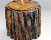 Candle, Pondersoa Pine, Handpainted, Scented, Beeswax