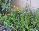 Handcrafted Iron Spider Home --Handmade garden art - Great Halloween Decor for a real spider