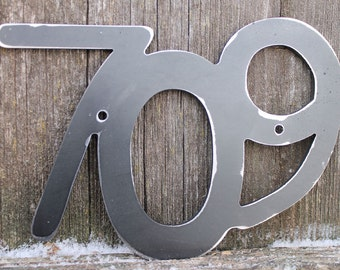 Metal House Number Set of Three Metal address number