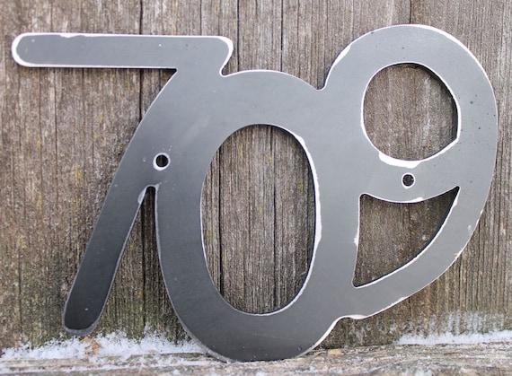 Metal House Number Set of Three Metal address number