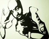 Tupac - Original Ink Drawing on Paper